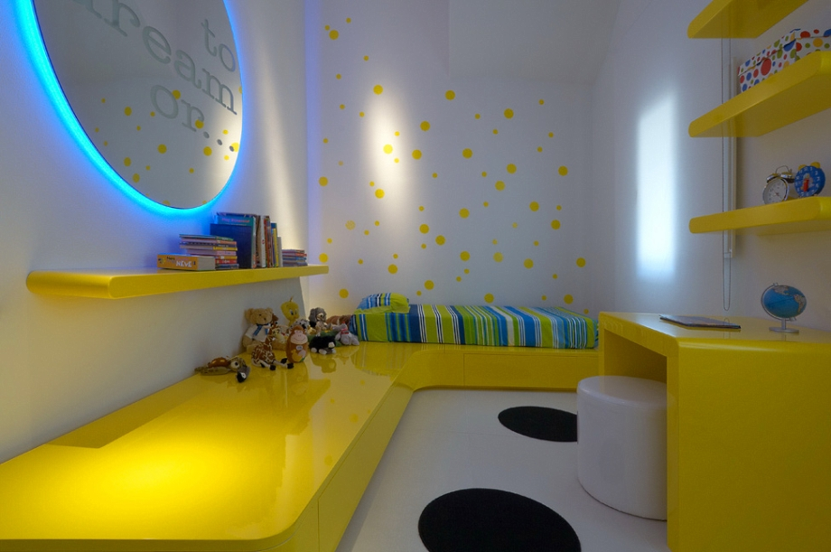 Kamar Dengan Nuansa Kuning